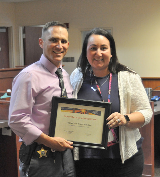 Detective honored